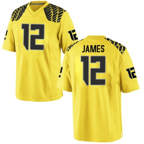 Youth Nike DJ James Oregon Ducks Replica Gold Football College Jersey