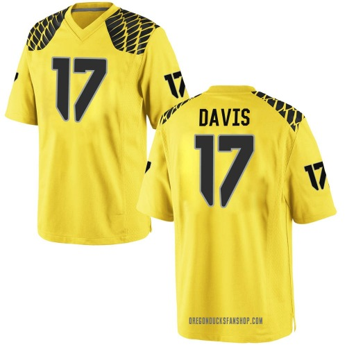 Youth Nike Daewood Davis Oregon Ducks Replica Gold Football College Jersey