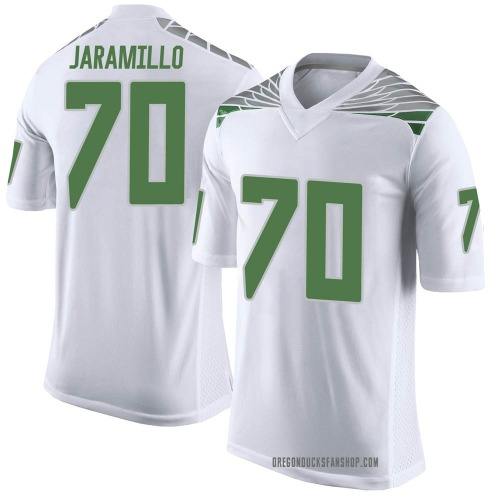 Youth Nike Dawson Jaramillo Oregon Ducks Limited White Football College Jersey