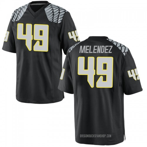 Youth Nike Devin Melendez Oregon Ducks Game Black Football College Jersey