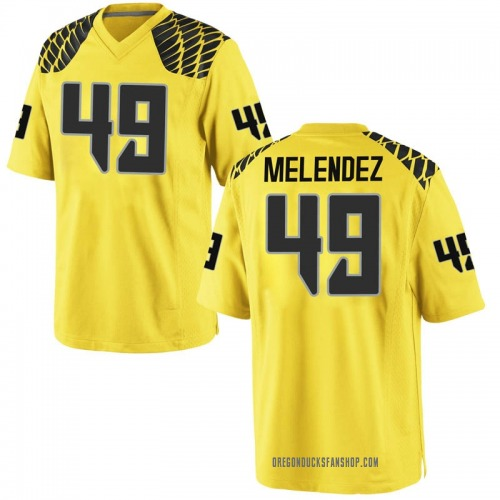 Youth Nike Devin Melendez Oregon Ducks Game Gold Football College Jersey