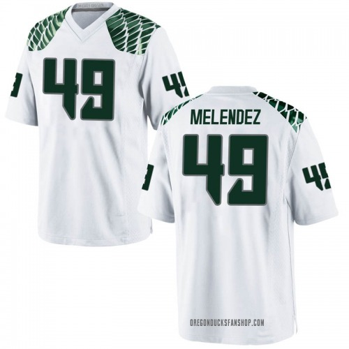 Youth Nike Devin Melendez Oregon Ducks Game White Football College Jersey