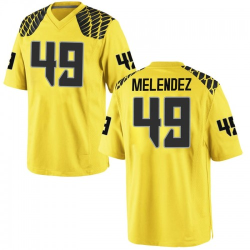 Youth Nike Devin Melendez Oregon Ducks Replica Gold Football College Jersey