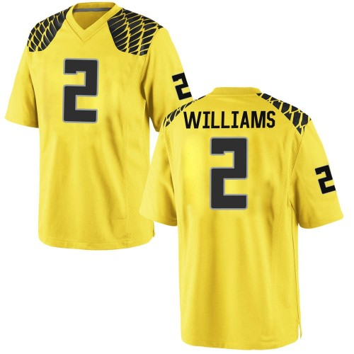 Youth Nike Devon Williams Oregon Ducks Game Gold Football College Jersey