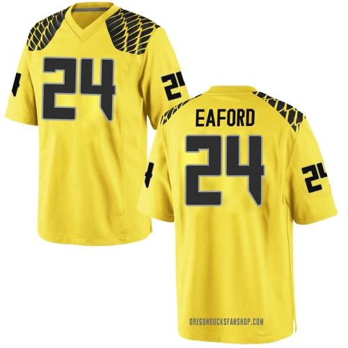 Youth Nike Ge'mon Eaford Oregon Ducks Game Gold Football College Jersey