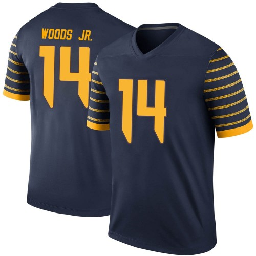 Youth Nike Haki Woods Jr. Oregon Ducks Legend Navy Football College Jersey