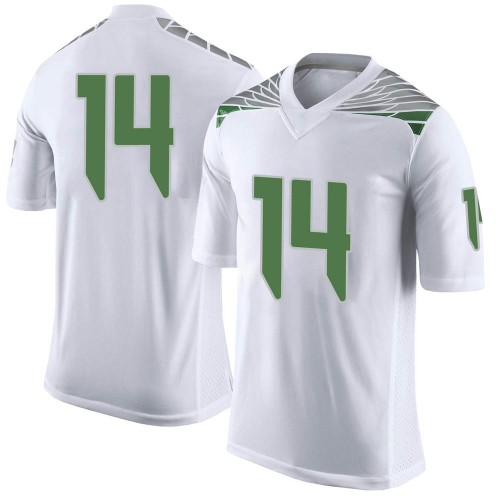 Youth Nike Haki Woods Jr. Oregon Ducks Limited White Football College Jersey