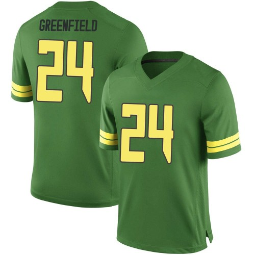Youth Nike JJ Greenfield Oregon Ducks Game Green Football College Jersey