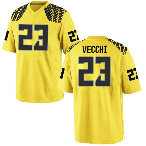 Youth Nike Jack Vecchi Oregon Ducks Game Gold Football College Jersey