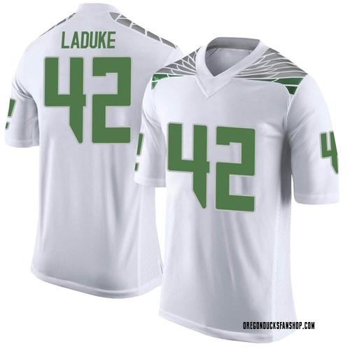 Youth Nike Jackson LaDuke Oregon Ducks Limited White Football College Jersey