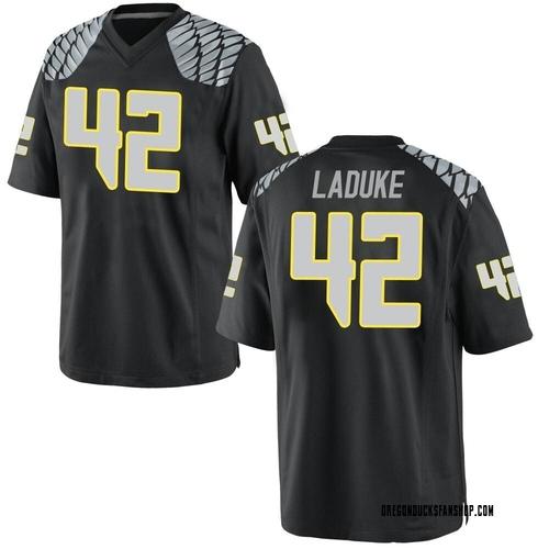 Youth Nike Jackson LaDuke Oregon Ducks Replica Black Football College Jersey