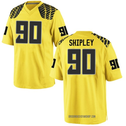 Youth Nike Jake Shipley Oregon Ducks Game Gold Football College Jersey