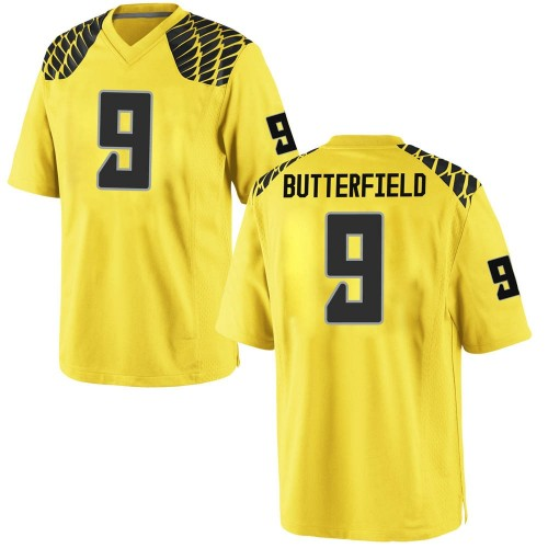 Youth Nike Jay Butterfield Oregon Ducks Game Gold Football College Jersey