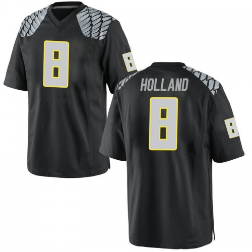 Youth Nike Jevon Holland Oregon Ducks Game Black Football College Jersey