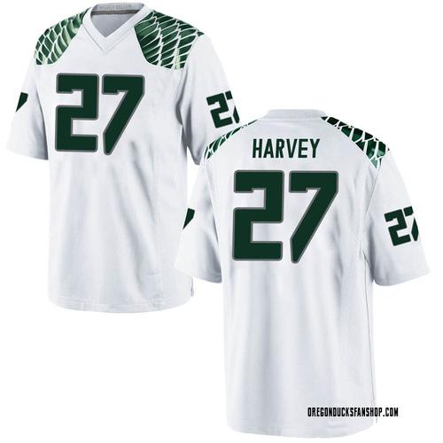 Youth Nike John Harvey Oregon Ducks Replica White Football College Jersey