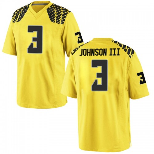 Youth Nike Johnny Johnson III Oregon Ducks Game Gold Football College Jersey