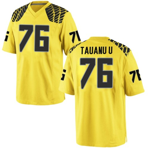 Youth Nike Jonah Tauanu'u Oregon Ducks Game Gold Football College Jersey