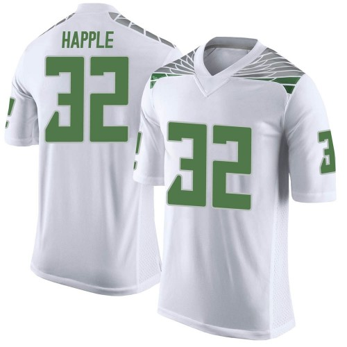 Youth Nike Jordan Happle Oregon Ducks Limited White Football College Jersey