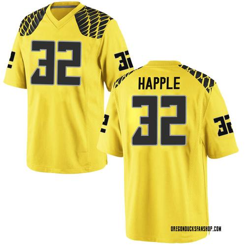 Youth Nike Jordan Happle Oregon Ducks Replica Gold Football College Jersey