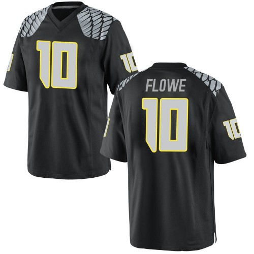 Youth Nike Justin Flowe Oregon Ducks Game Black Football College Jersey