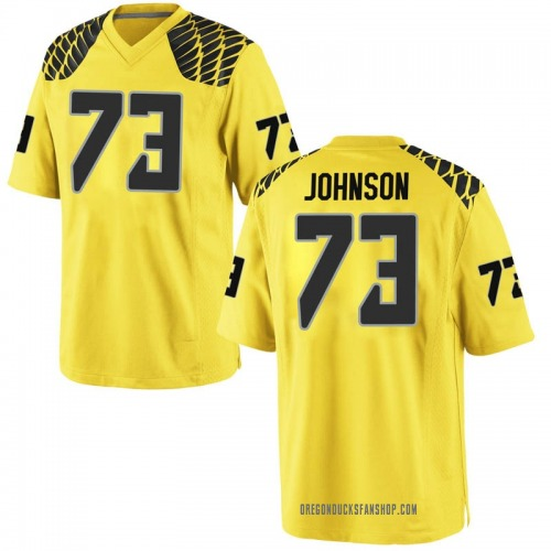 Youth Nike Justin Johnson Oregon Ducks Game Gold Football College Jersey