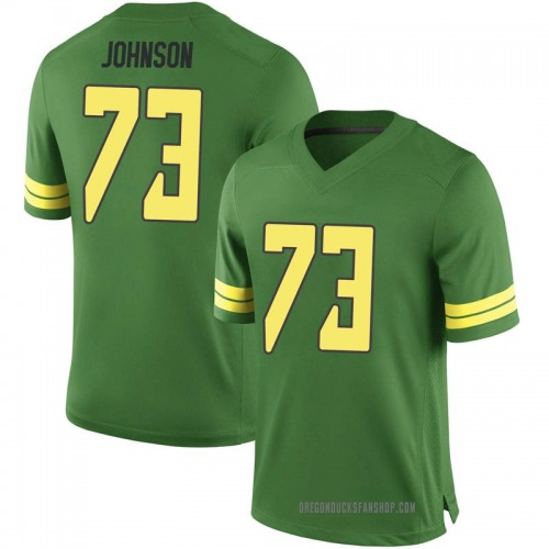 Youth Nike Justin Johnson Oregon Ducks Game Green Football College Jersey