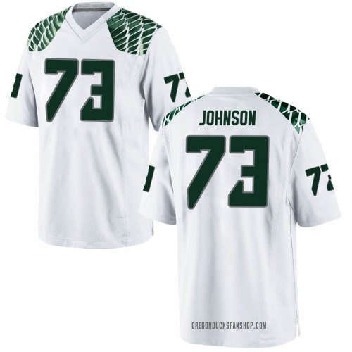 Youth Nike Justin Johnson Oregon Ducks Game White Football College Jersey