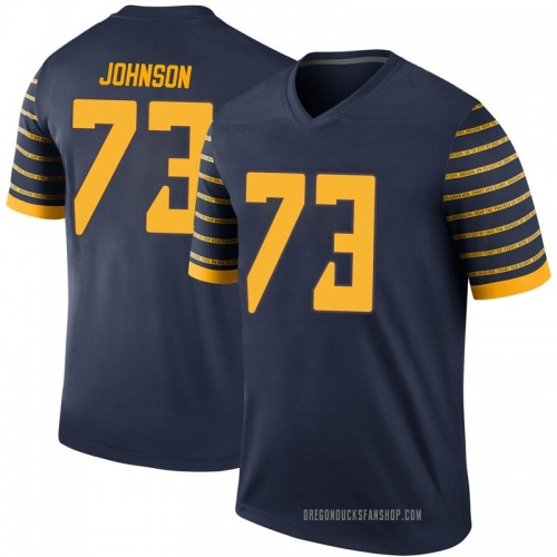 Youth Nike Justin Johnson Oregon Ducks Legend Navy Football College Jersey