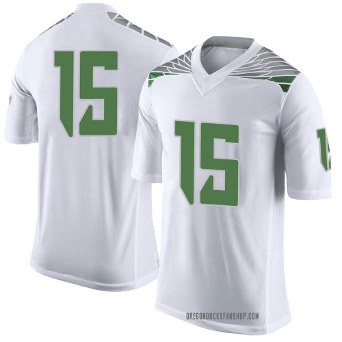 Youth Nike Kahlef Hailassie Oregon Ducks Limited White Football College Jersey