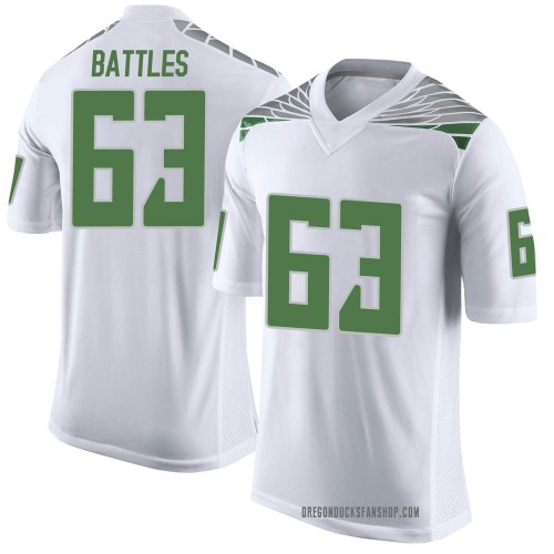 Youth Nike Karsten Battles Oregon Ducks Limited White Football College Jersey