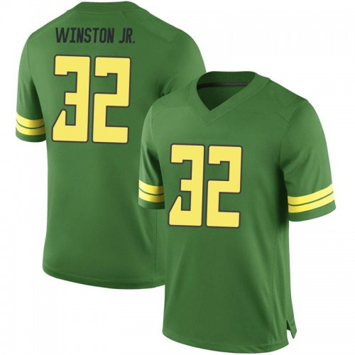 Youth Nike La'Mar Winston Jr. Oregon Ducks Game Green Football College Jersey