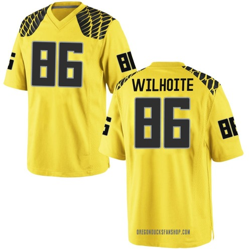 Youth Nike Lance Wilhoite Oregon Ducks Game Gold Football College Jersey