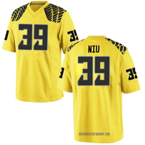 Youth Nike MJ Cunningham Oregon Ducks Game Gold Football College Jersey