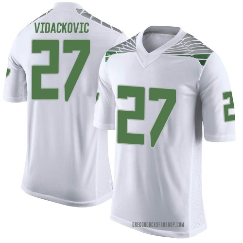 Youth Nike Marko Vidackovic Oregon Ducks Limited White Football College Jersey