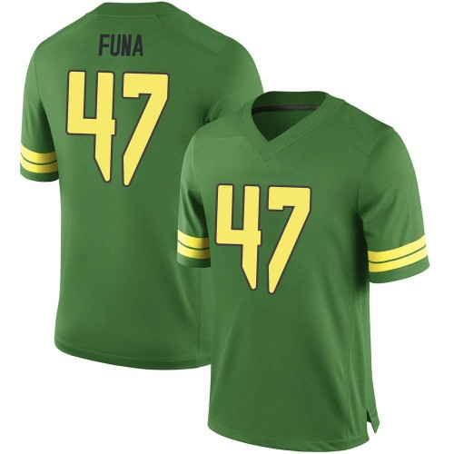 Youth Nike Mase Funa Oregon Ducks Game Green Football College Jersey