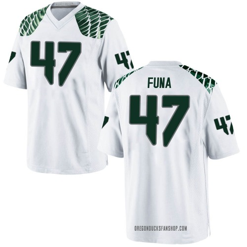 Youth Nike Mase Funa Oregon Ducks Game White Football College Jersey