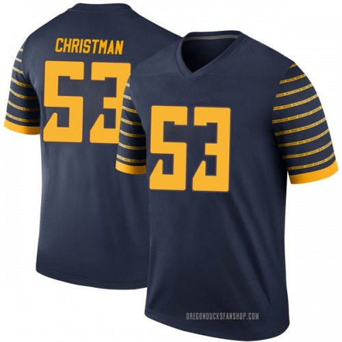 Youth Nike Matt Christman Oregon Ducks Legend Navy Football College Jersey