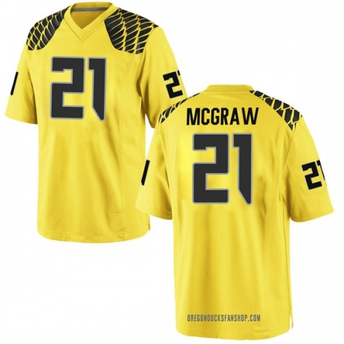 Youth Nike Mattrell McGraw Oregon Ducks Game Gold Football College Jersey