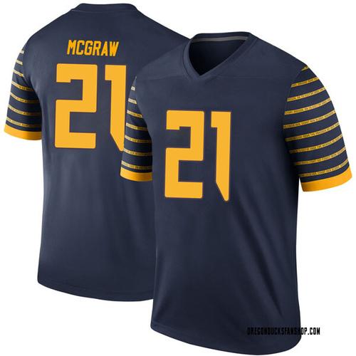 Youth Nike Mattrell McGraw Oregon Ducks Legend Navy Football College Jersey