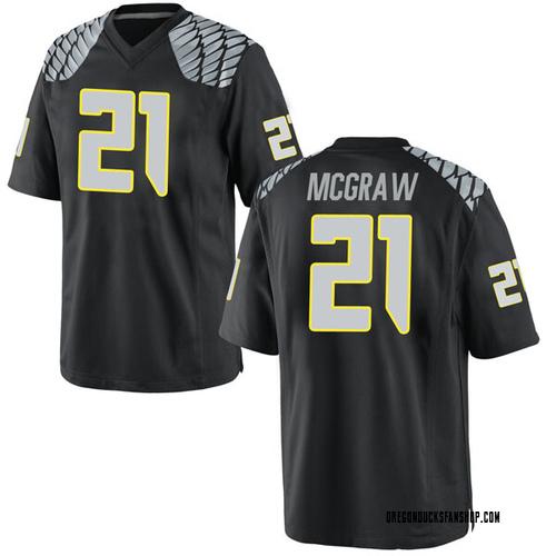 Youth Nike Mattrell McGraw Oregon Ducks Replica Black Football College Jersey