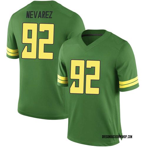 Youth Nike Miguel Nevarez Oregon Ducks Game Green Football College Jersey