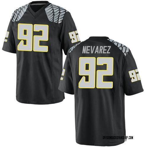 Youth Nike Miguel Nevarez Oregon Ducks Replica Black Football College Jersey