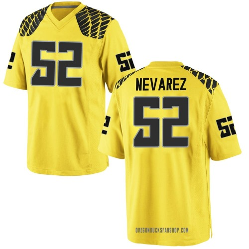 Youth Nike Miguel Nevarez Oregon Ducks Replica Gold Football College Jersey