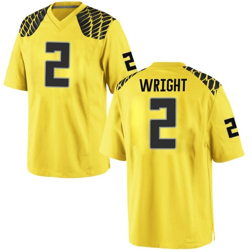 Youth Nike Mykael Wright Oregon Ducks Game Gold Football College Jersey