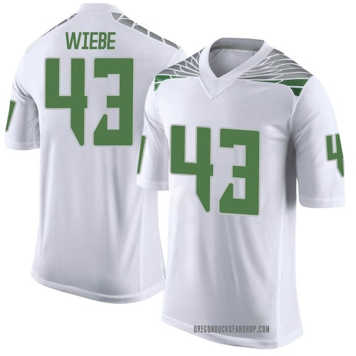 Youth Nike Nick Wiebe Oregon Ducks Limited White Football College Jersey