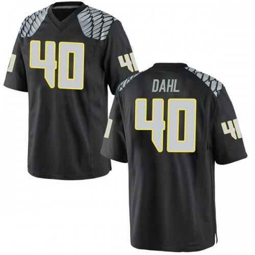 Youth Nike Noah Dahl Oregon Ducks Game Black Football College Jersey