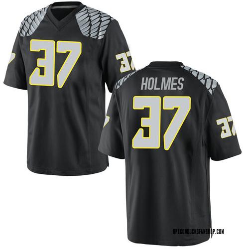 Youth Nike Noah Holmes Oregon Ducks Game Black Football College Jersey
