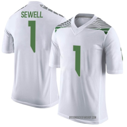 Youth Nike Noah Sewell Oregon Ducks Limited White Football College Jersey