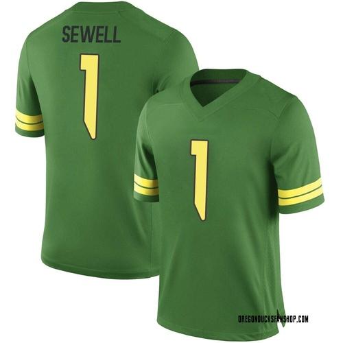 Youth Nike Noah Sewell Oregon Ducks Replica Green Football College Jersey