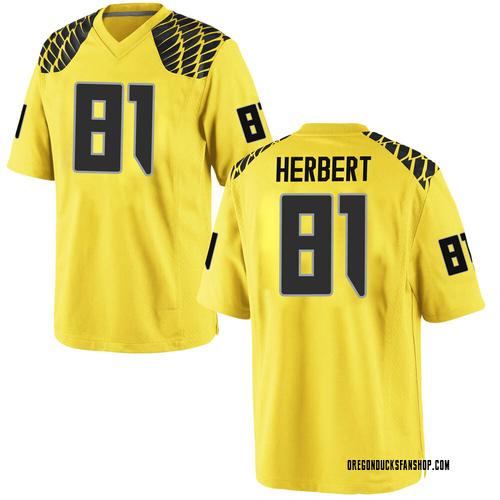 Youth Nike Patrick Herbert Oregon Ducks Replica Gold Football College Jersey